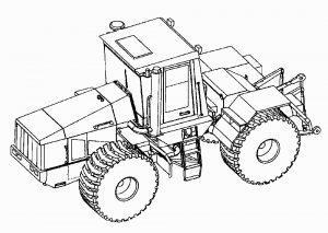 Трактор Кировец К-744 раскраска