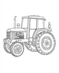 Раскраска трактор для детей 5-6 лет