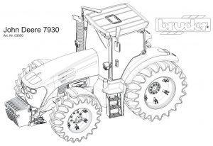 Трактор Брудер раскраска