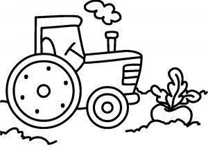 Трактор раскраска для малышей