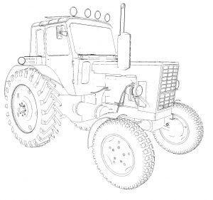 Раскраска трактор Беларус МТЗ-80