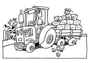 Раскраска трактор для мальчиков 4-5 лет
